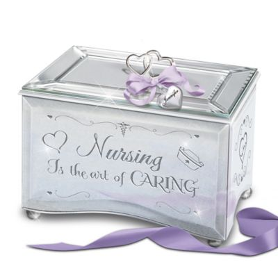 Bradford Exchange Nursing Is The Art Of Caring Personalized Mirrored