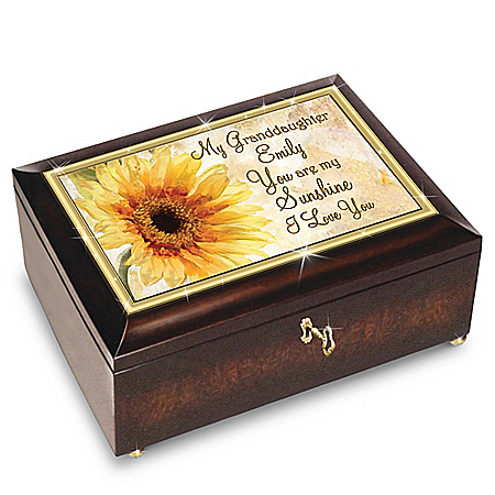 Mindy Sommers Granddaughter, You Are My Sunshine Personalized Music Box