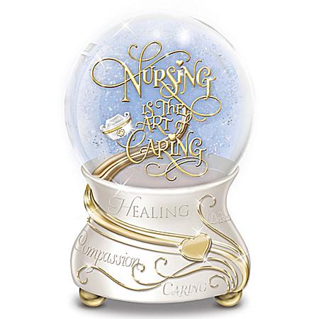 Nursing Is The Art Of Caring Musical Glitter Globe