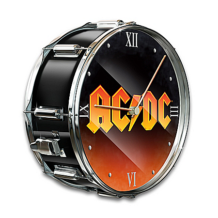 AC/DC Rock Band Drum Wall Clock