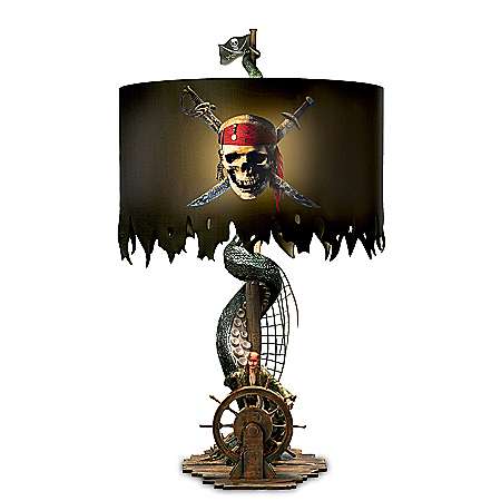 Disney Pirates Of The Caribbean Sculpted Table Lamp