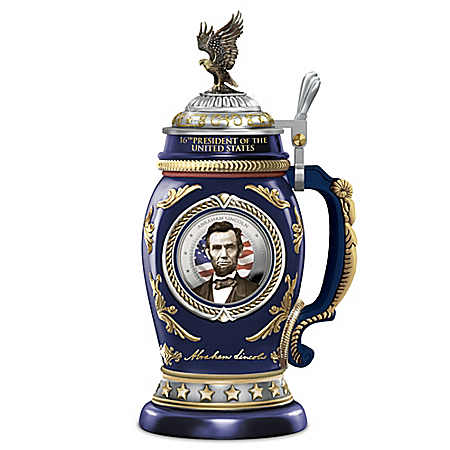 President Abraham Lincoln Heirloom Porcelain Stein