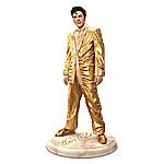 Elvis Presley The King Of Rock N' Roll Hand-Painted Sculpture