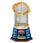 2016 World Series Chicago Cubs Commemorative Trophy With Postseason Stats