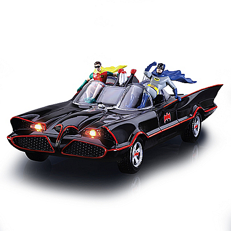 BATMAN Classic TV Series Illuminated BATMOBILE Sculpture