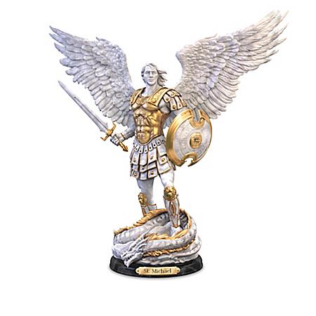 St. Michael: Victorious Resin Sculpture