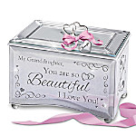 Granddaughter, You Are So Beautiful Personalized Mirrored Music Box With Poem Card