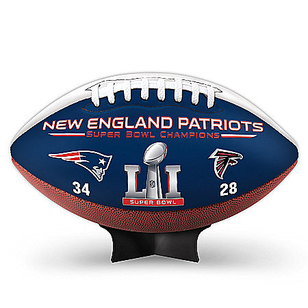 NFL Super Bowl LI Champions New England Patriots Football
