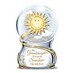 My Granddaughter, You Are My Sunshine Musical Glitter Globe
