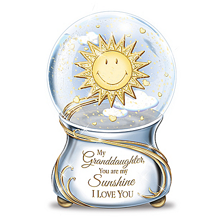 My Granddaughter, You Are My Sunshine Musical Glitter Globe