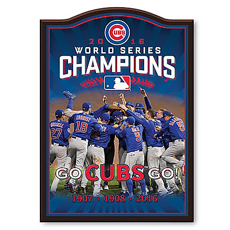 Chicago Cubs 2016 World Series Champions Wall Decor