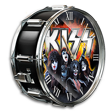 KISS Rock Band Showtime Drum Wall Clock 126468001
