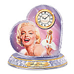 Love, Marilyn Monroe Crystal Heart Clock