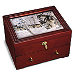 Strength Of The Pack Keepsake Box - Wolf Wooden Strongbox