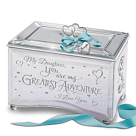 My Daughter, You Are My Greatest Adventure Personalized Mirrored Music Box
