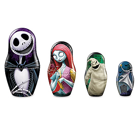 Disney The Nightmare Before Christmas Sculpture Set