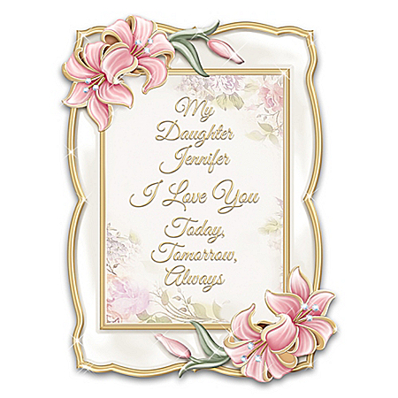 Daughter, I Love You Heirloom Porcelain Personalized Frame from The Bradford Exchange Online Product Image