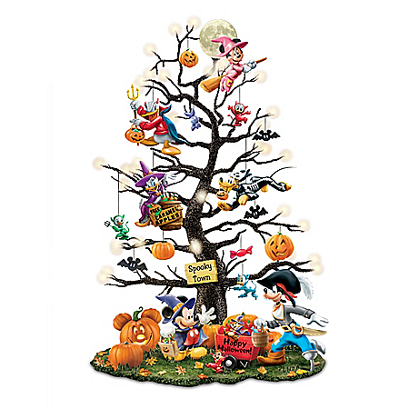 Disney Trick Or Treat Illuminated Halloween Tabletop Tree