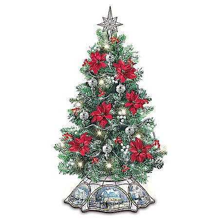 Thomas Kinkade The Warm Glow Of Christmas Tabletop Tree