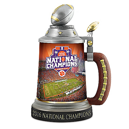 Clemson Tigers 2016 National Champions Collectible Porcelain Stein