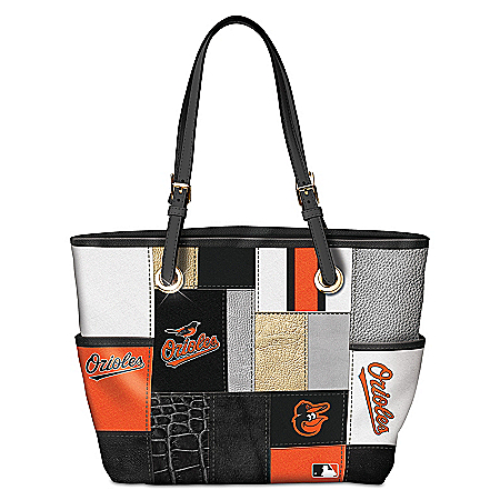 Baltimore Orioles MLB Women's Patchwork Tote Bag