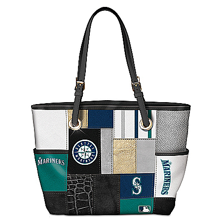 Seattle Mariners MLB Women's Patchwork Tote Bag