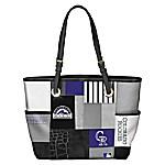 Colorado Rockies MLB Women's Patchwork Tote Bag