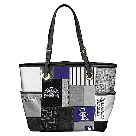 Colorado Rockies MLB Women's Patchwork Tote Bag