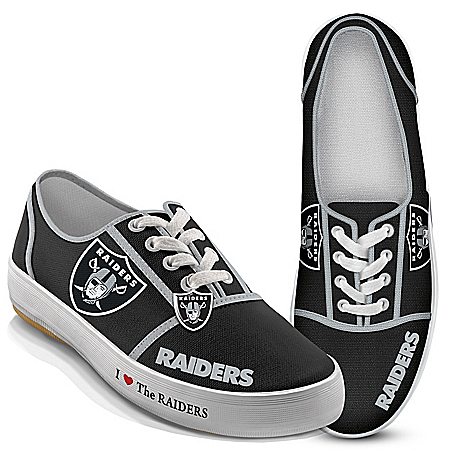I Love The NFL Oakland Raiders Women's Canvas Shoes