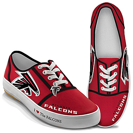 I Love The NFL Atlanta Falcons Women's Canvas Shoes