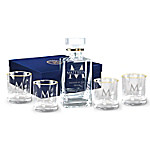 Personalized Decanter And Glasses - Five-Piece Set