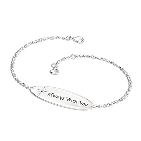 Always With You Personalized Women's Diamond Bereavement Bracelet