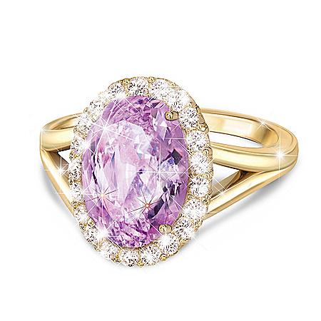 Everlasting Gift Of Love Sterling Silver Diamonesk Women's Ring
