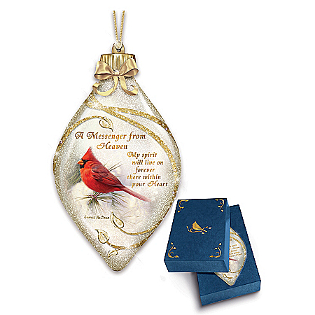 Messenger From Heaven Illuminated Cardinal Christmas Tree Ornament