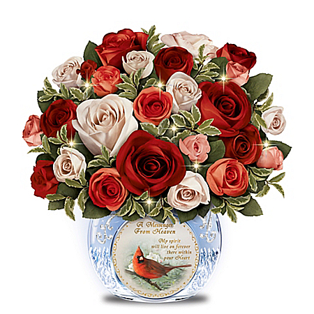 Always In Bloom Messenger From Heaven Illuminated Religious Table Centerpiece
