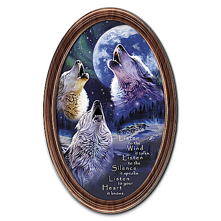 Robin Koni Spirits Call Wall Decor Oval-Shaped Framed Print