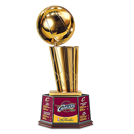 Limited Edition Cleveland Cavaliers 2016 NBA Finals Commemorative Trophy Sculpture
