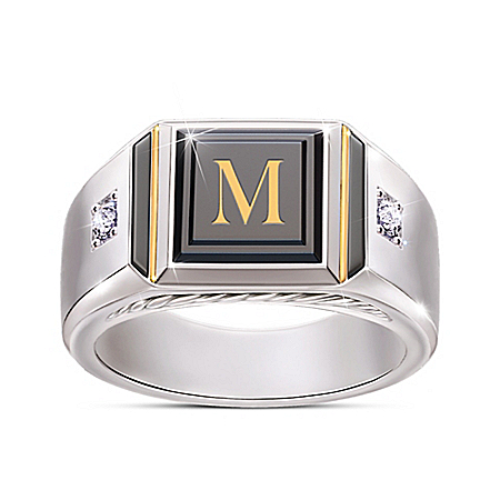 Man of Distinction ring is a bold personalized jewelry design and a truly unique men's diamond and black onyx ring. – Personaliz