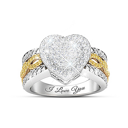 All My Love Women's Heart-Shaped Diamond Ring