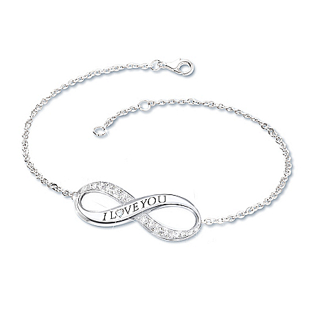 Infinite Love Daughter Diamond Engraved Bracelet