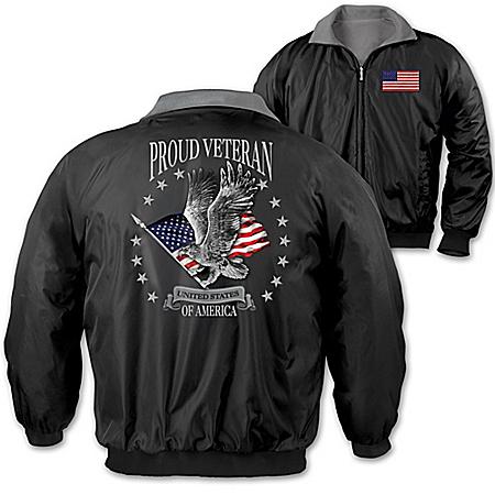 Proud Veteran Men's Reversible Nylon & Fleece Jacket
