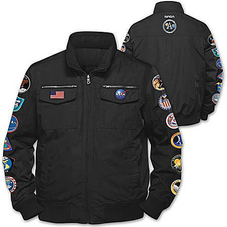 Space Mission Men's Nylon Jacket