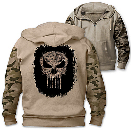 MARVEL The Punisher Men's Cotton Blend Knit Hoodie