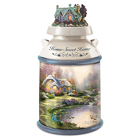 Thomas Kinkade Art Inspired Home Sweet Home Heirloom Quality Cookie Jar