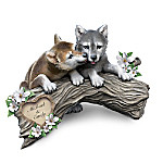 Soul Mates Personalized Wolf Pups Sculpture