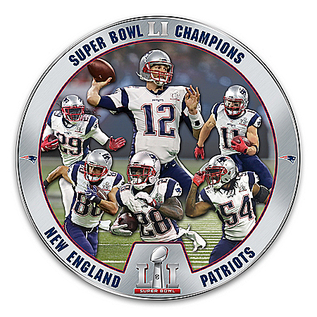NFL Super Bowl LI Champions New England Patriots Collector Plate