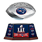 New England Patriots NFL Super Bowl LI Championship Levitating Football Sculpture