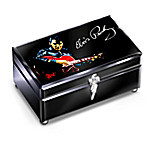 Reflections Of Elvis Presley Glass Music Box