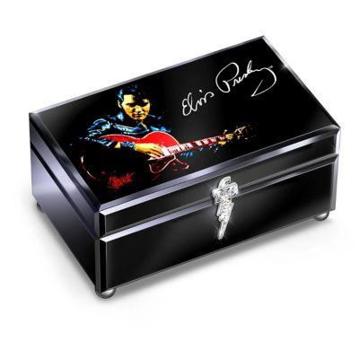Bradford Exchange Reflections Of Elvis Presley Glass