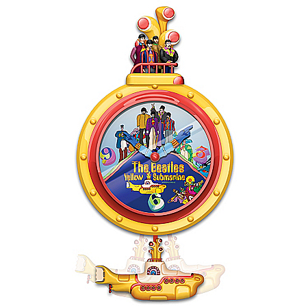 The Beatles Yellow Submarine Pop Art Motion Wall Clock